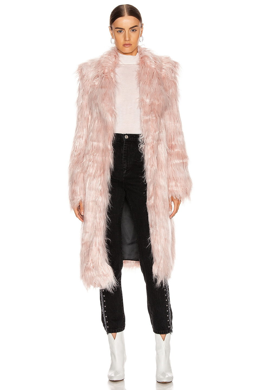 Image 1 of Sandy Liang Vert Coat in Pink Tinsel