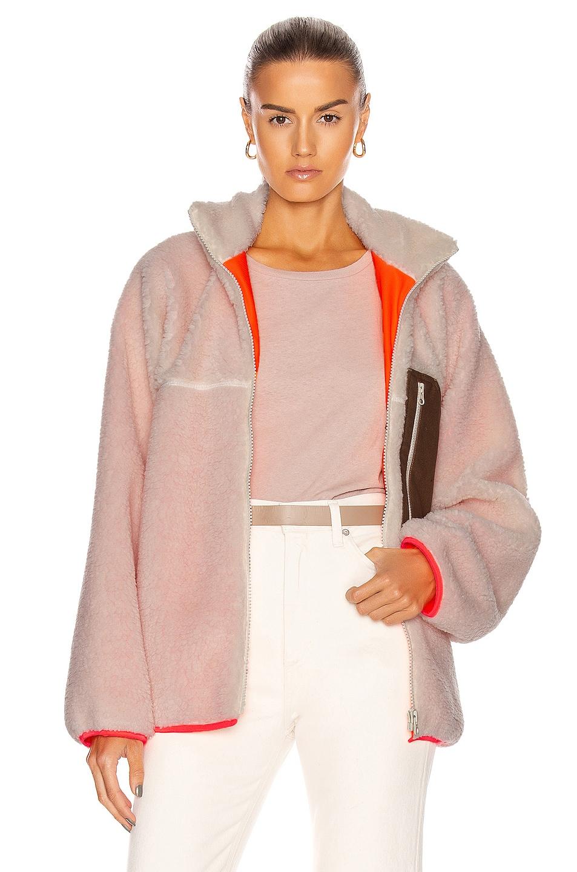 Image 1 of Sandy Liang Barn Fleece Jacket in Cream