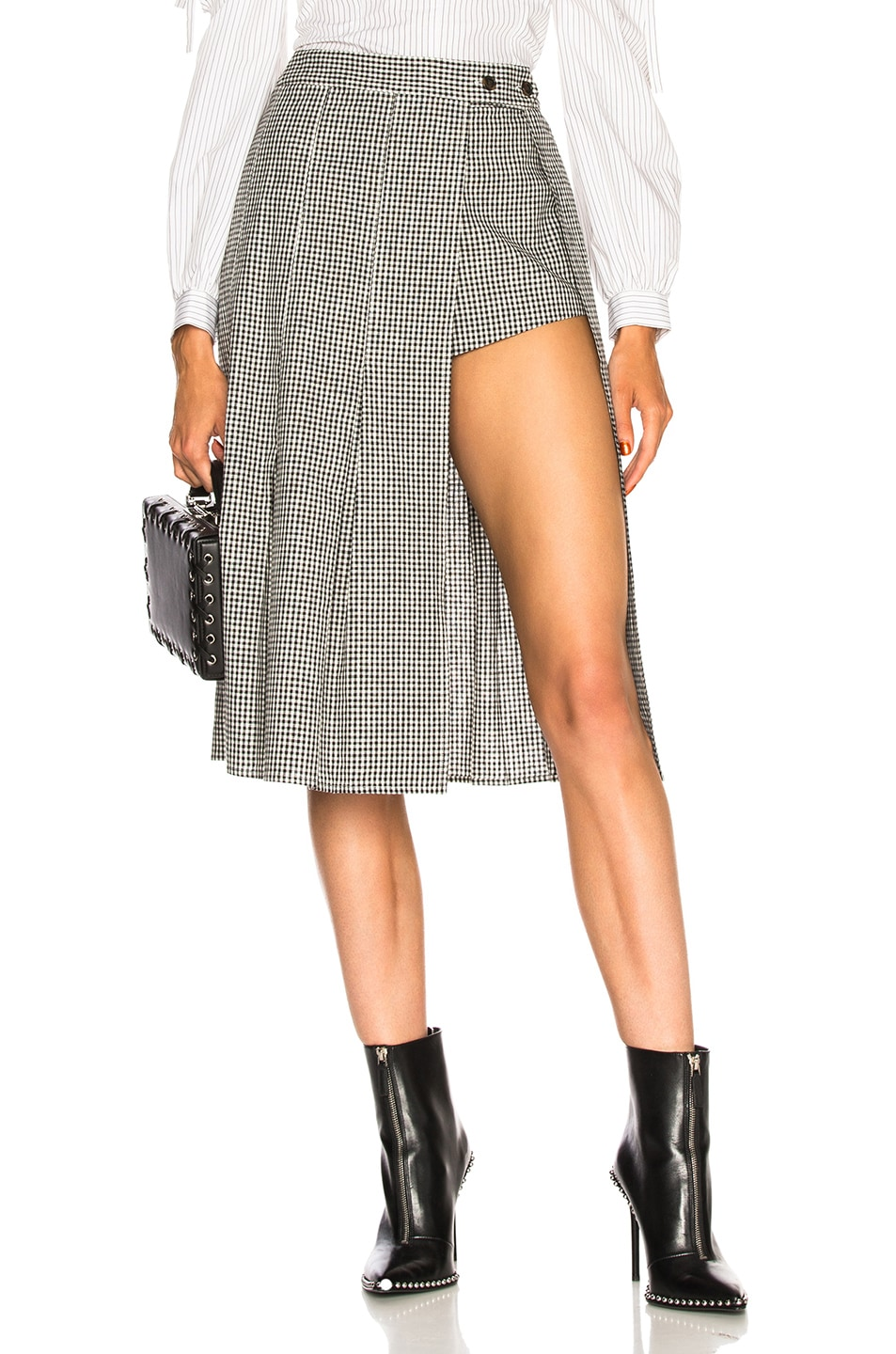Image 1 of Sandy Liang Uniform Skort in Gingham