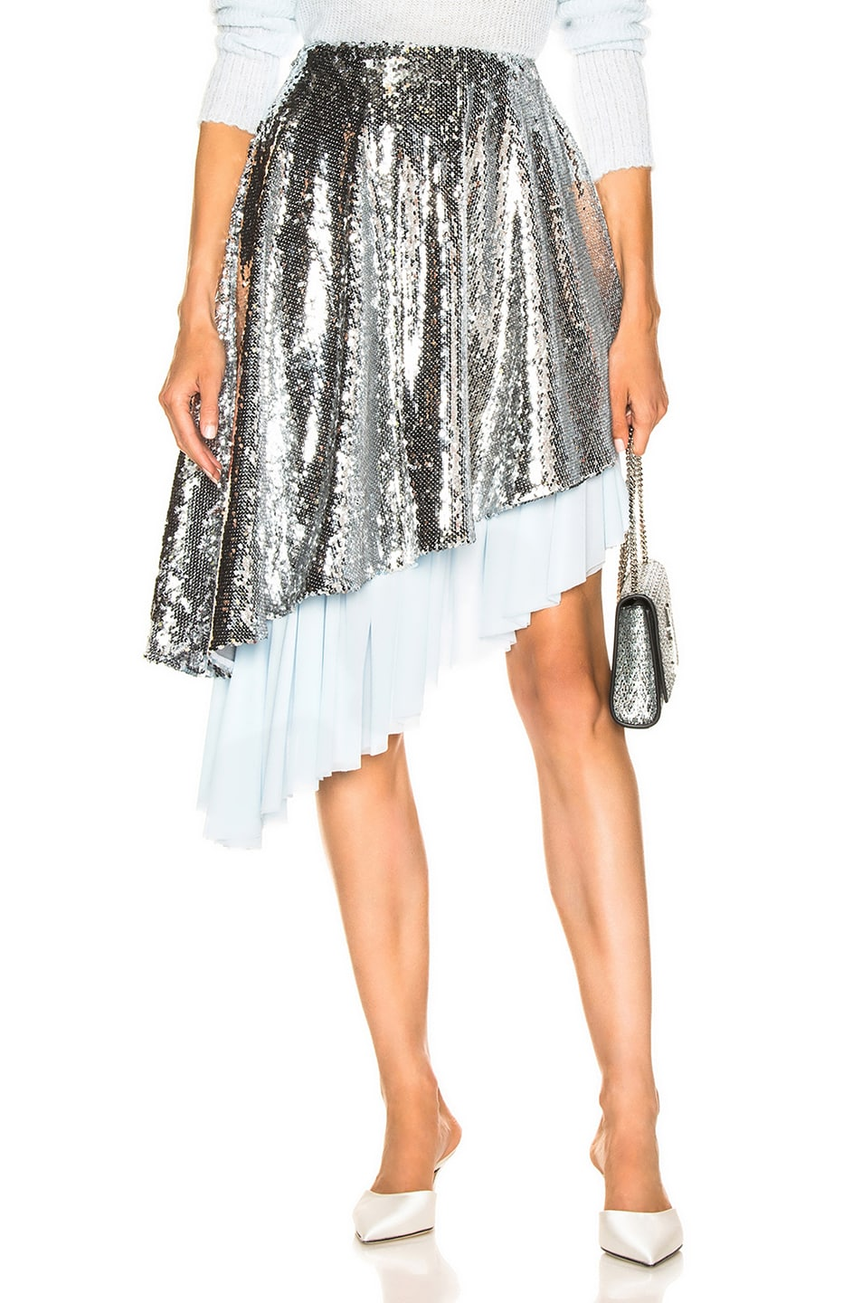 Image 1 of Sandy Liang Skrrt Skirt in Disco
