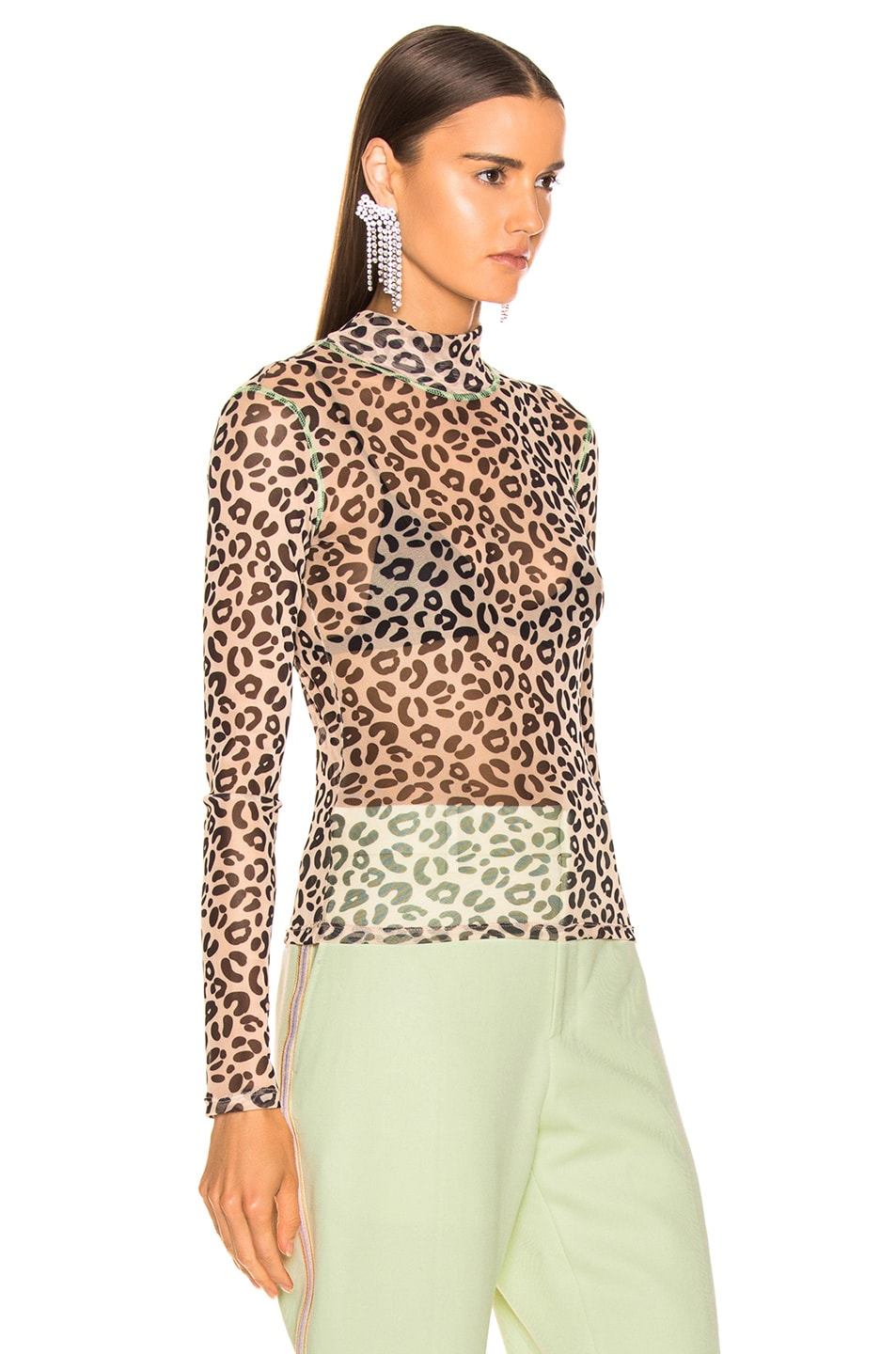 good Sandy Liang Promise Top Pale Leopard