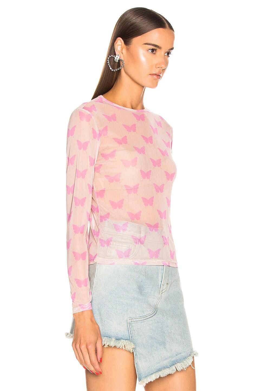 Image 2 of Sandy Liang Peel Top in Beige & Pink