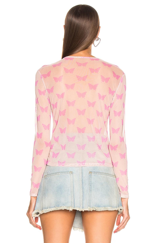 Image 3 of Sandy Liang Peel Top in Beige & Pink