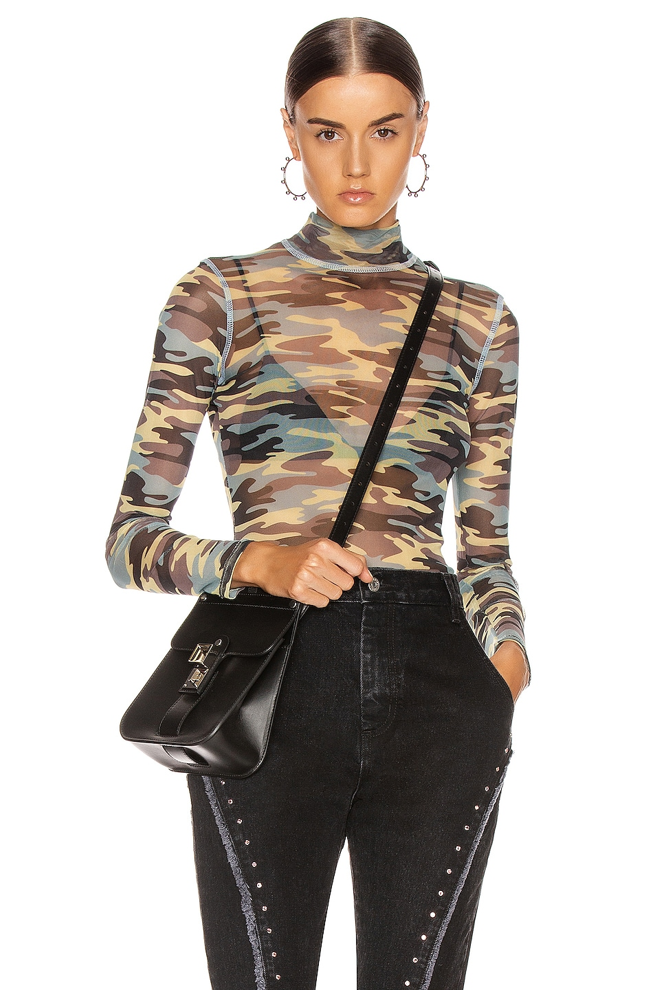 Image 1 of Sandy Liang Promise Top in Camo