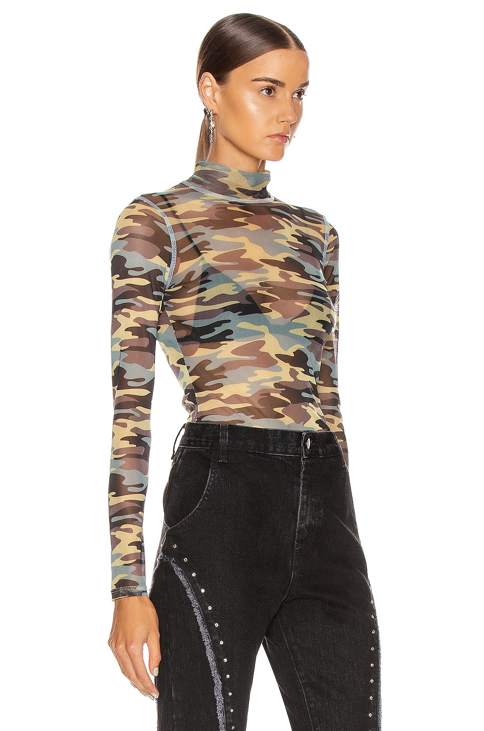 Image 2 of Sandy Liang Promise Top in Camo
