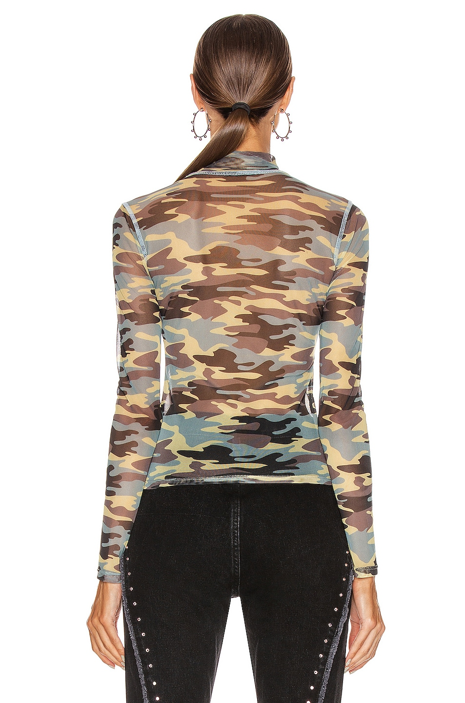 Image 3 of Sandy Liang Promise Top in Camo
