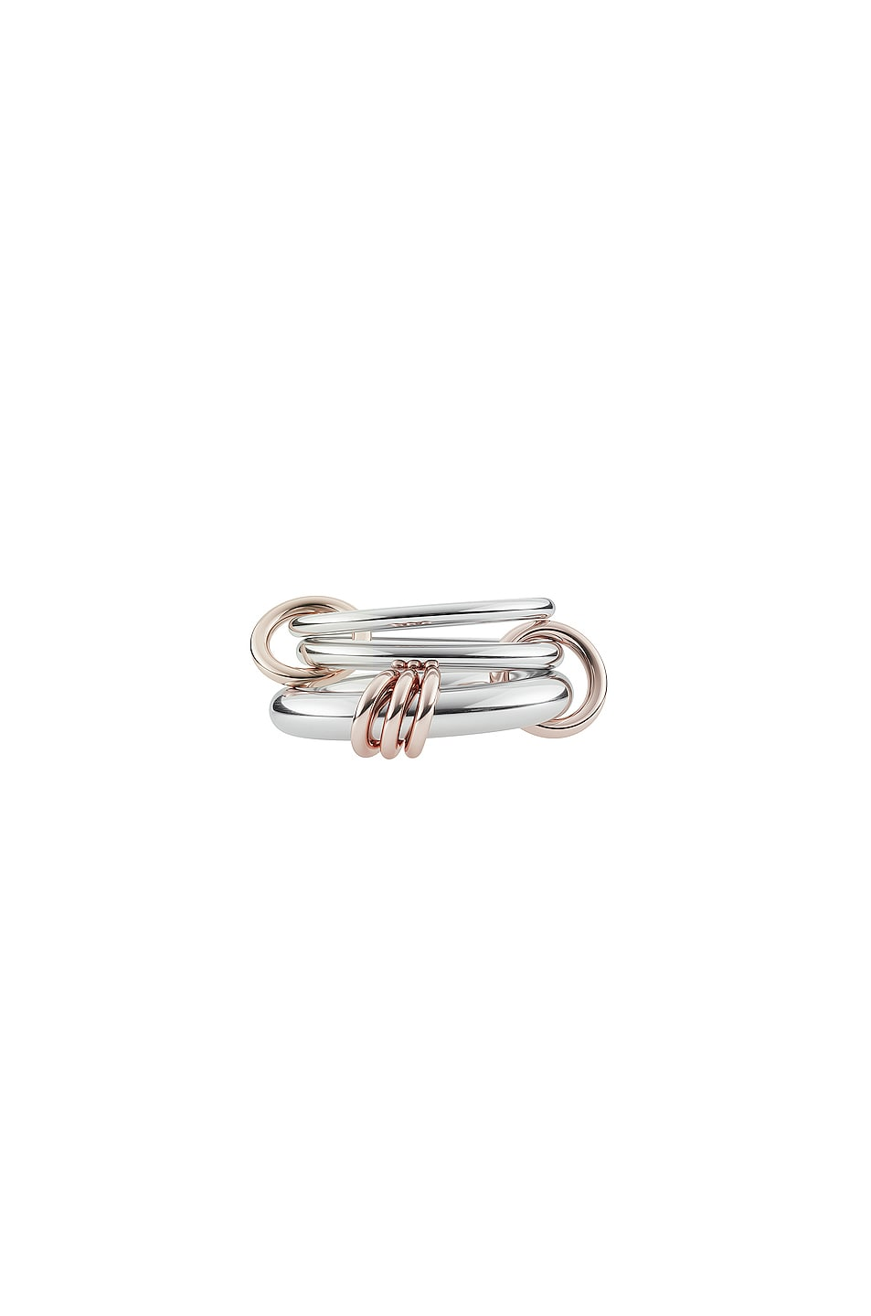 Spinelli Kilcollin Orion sterling silver and 18k gold linked rings 45TpFM