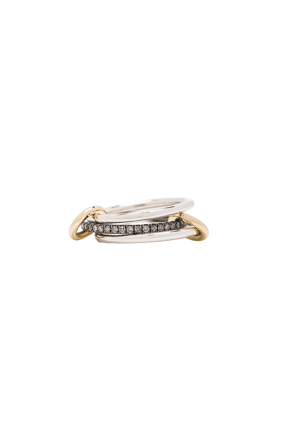 Image 1 of Spinelli Kilcollin Raneth Gris Ring in Silver & Yellow Gold