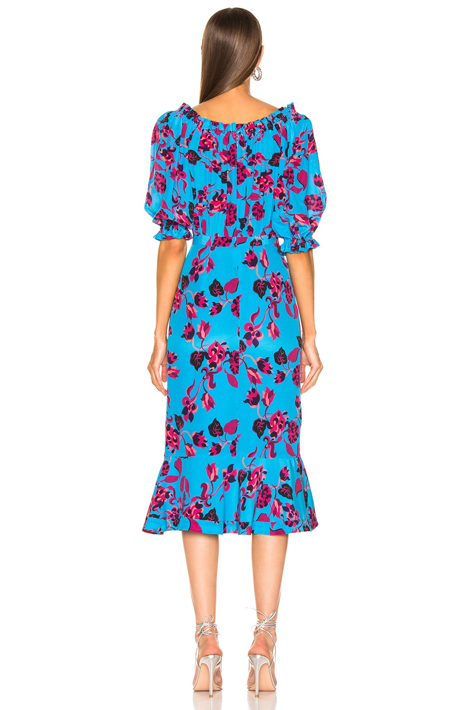 Image 4 of SALONI Olivia Dress in Turquoise Japonica