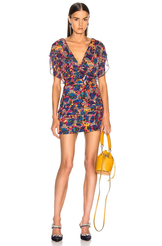 Image 1 of SALONI Brooke Dress in Gold Banana Leaf