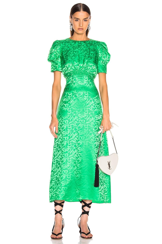Image 1 of SALONI Bianca Dress in Leaf Green