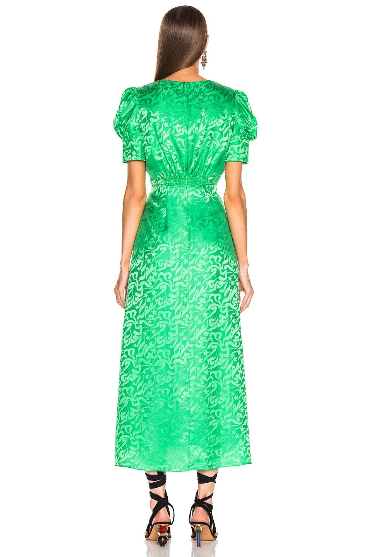 Image 3 of SALONI Bianca Dress in Leaf Green