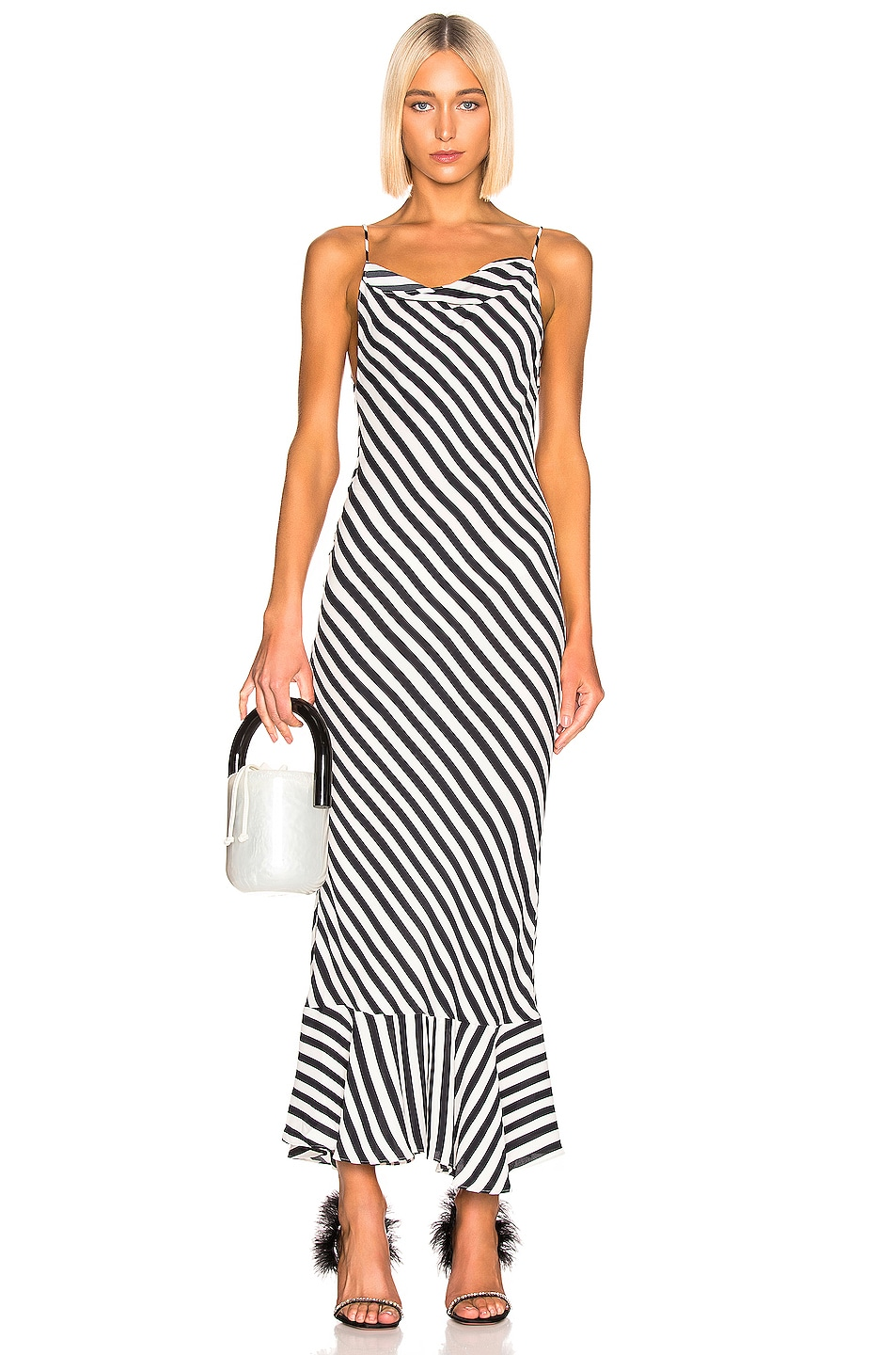 Image 1 of SALONI Stella B Dress in Brushstroke Stripe