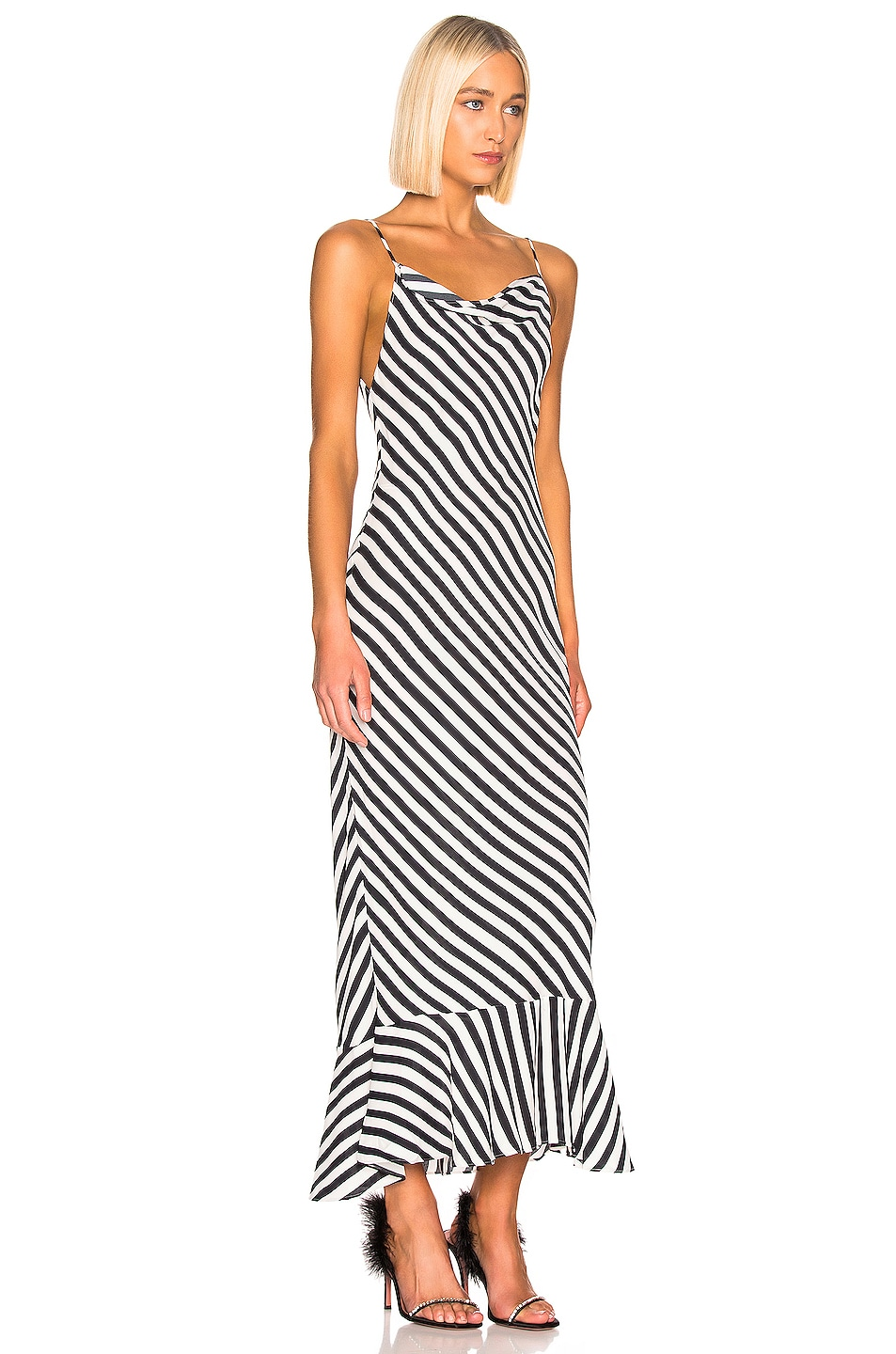 Image 2 of SALONI Stella B Dress in Brushstroke Stripe