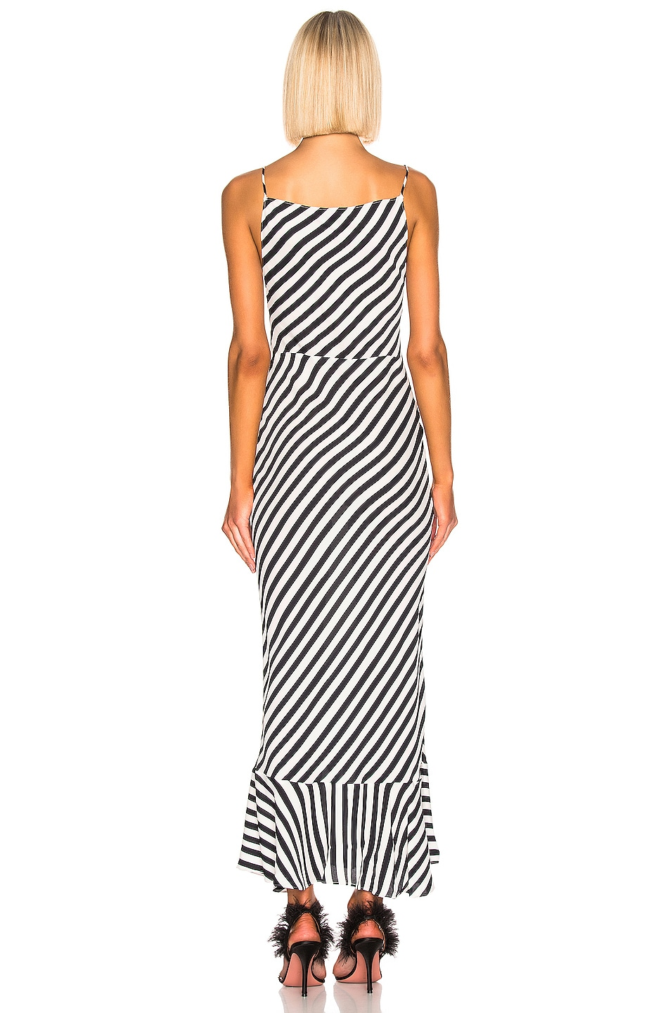 Image 3 of SALONI Stella B Dress in Brushstroke Stripe