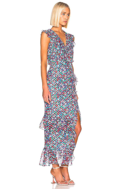 Image 2 of SALONI Anita Dress in Blue Poppyfield