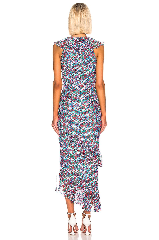 Image 3 of SALONI Anita Dress in Blue Poppyfield