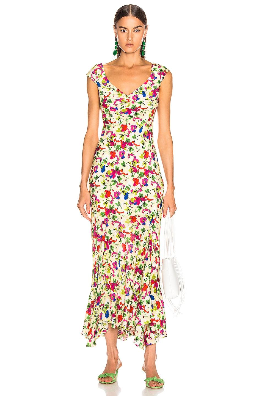 Image 1 of SALONI Daphne C Dress in Lemon Poppies