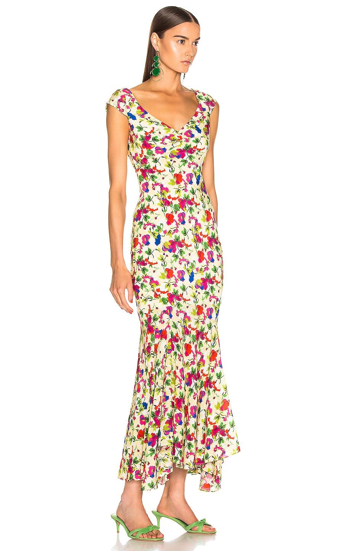 Image 2 of SALONI Daphne C Dress in Lemon Poppies