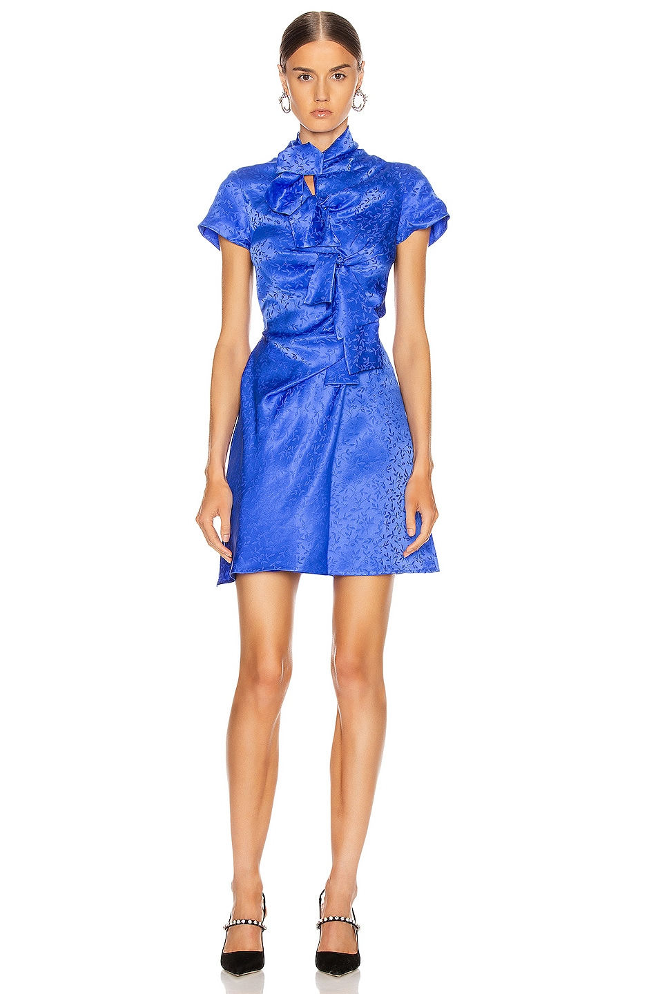 Image 1 of SALONI Kelly Mini Dress in Azure Blue