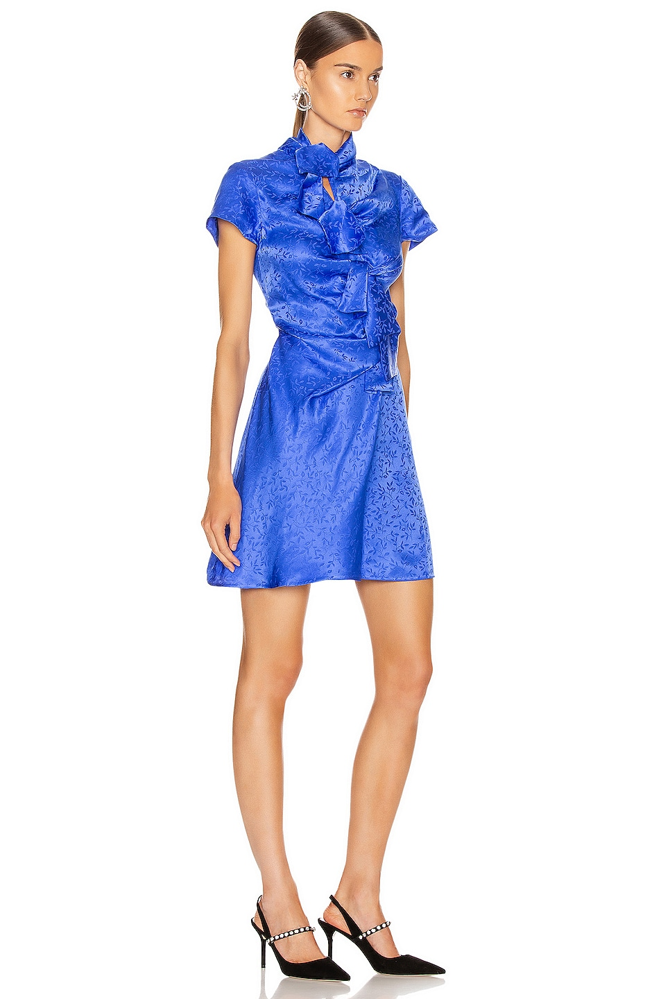 Image 2 of SALONI Kelly Mini Dress in Azure Blue