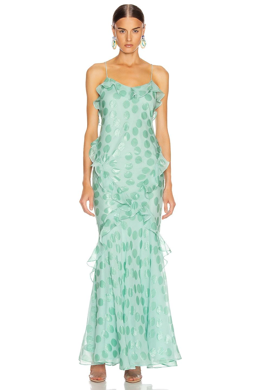 Image 1 of SALONI Tamara Dress in Sea Green
