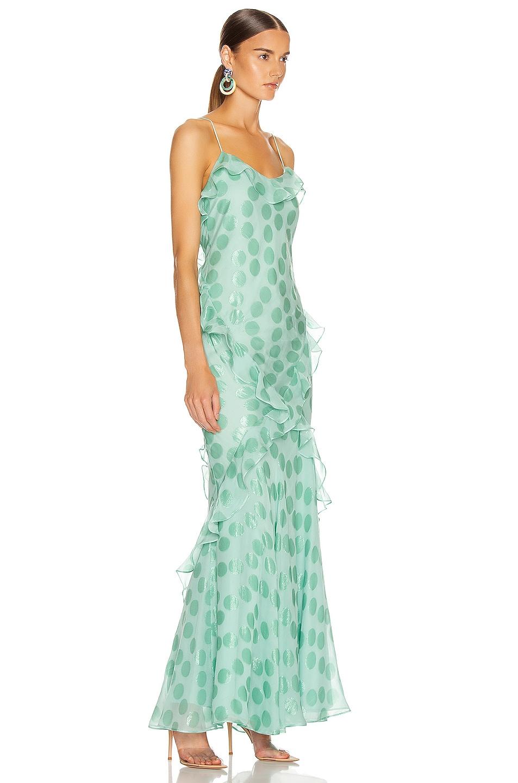 Image 2 of SALONI Tamara Dress in Sea Green