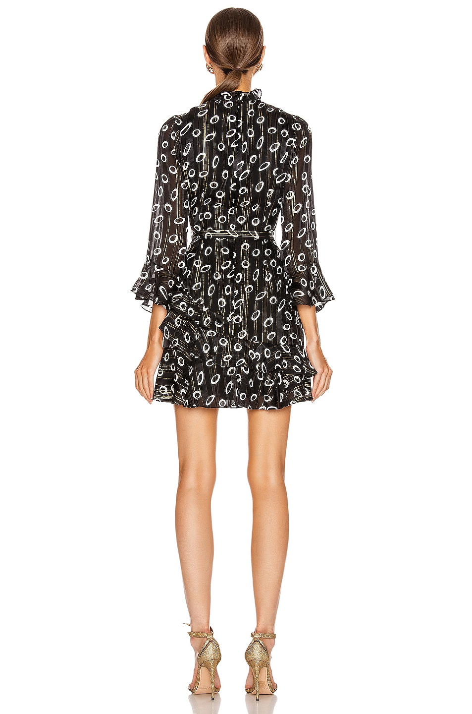 Image 3 of SALONI Marissa Mini Dress in Space Dot & Black