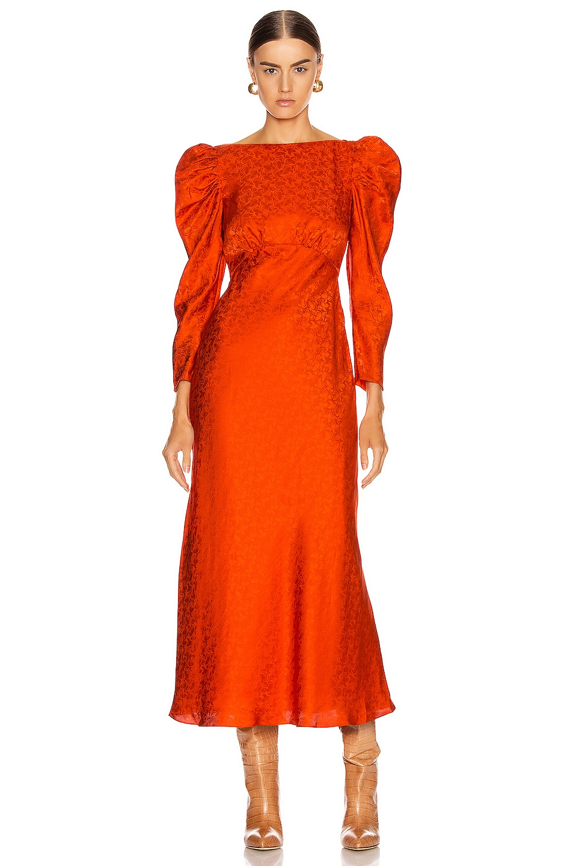 Image 1 of SALONI Alena Midi Dress in Bitter Orange