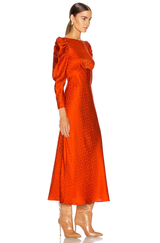 Image 2 of SALONI Alena Midi Dress in Bitter Orange