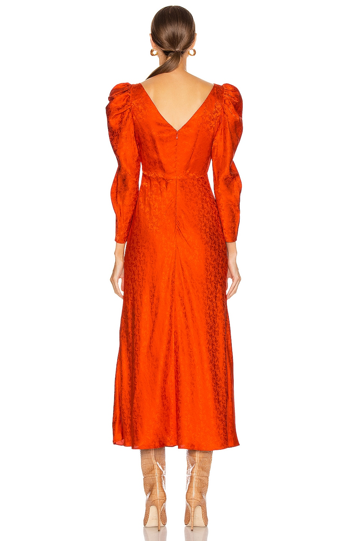 Image 3 of SALONI Alena Midi Dress in Bitter Orange