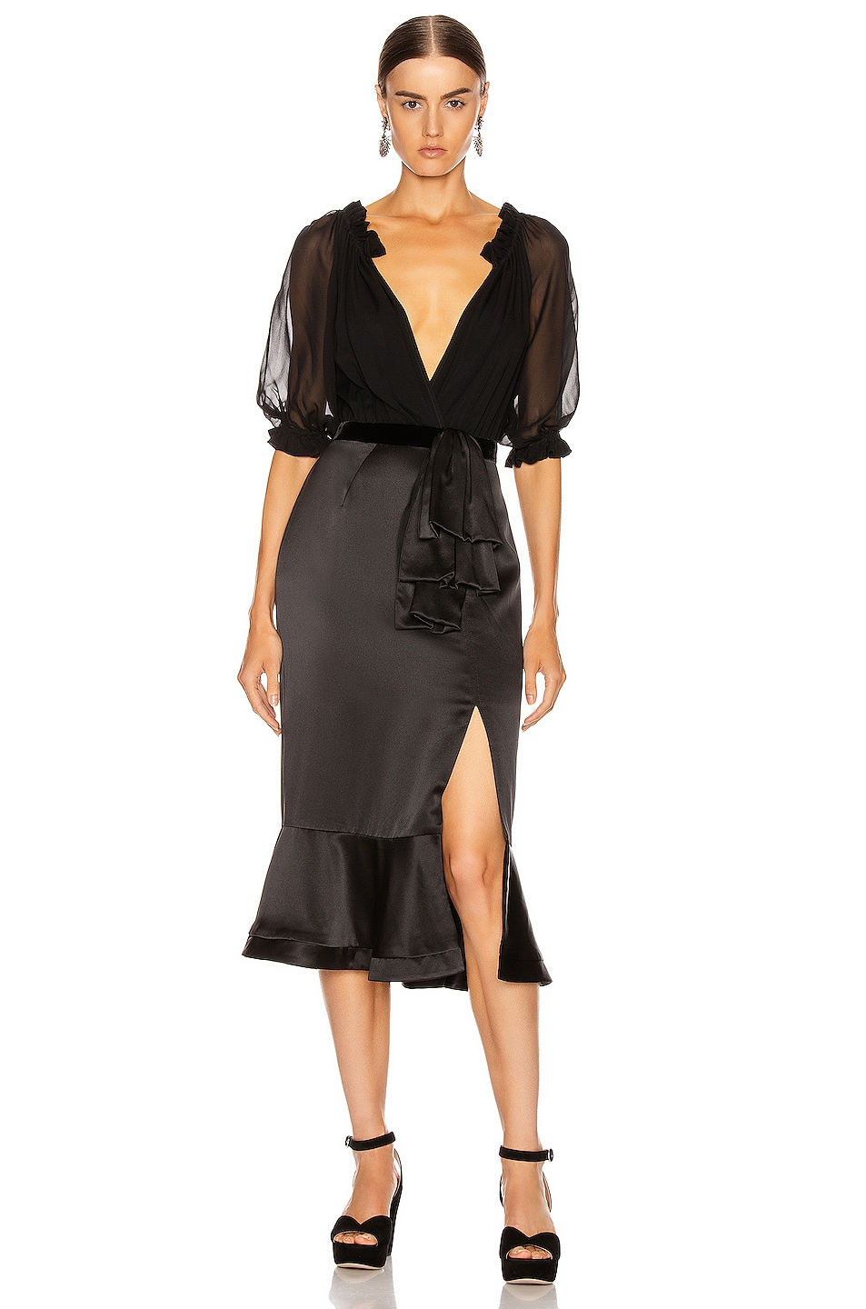 Image 1 of SALONI Holiday Olivia Dress in Black