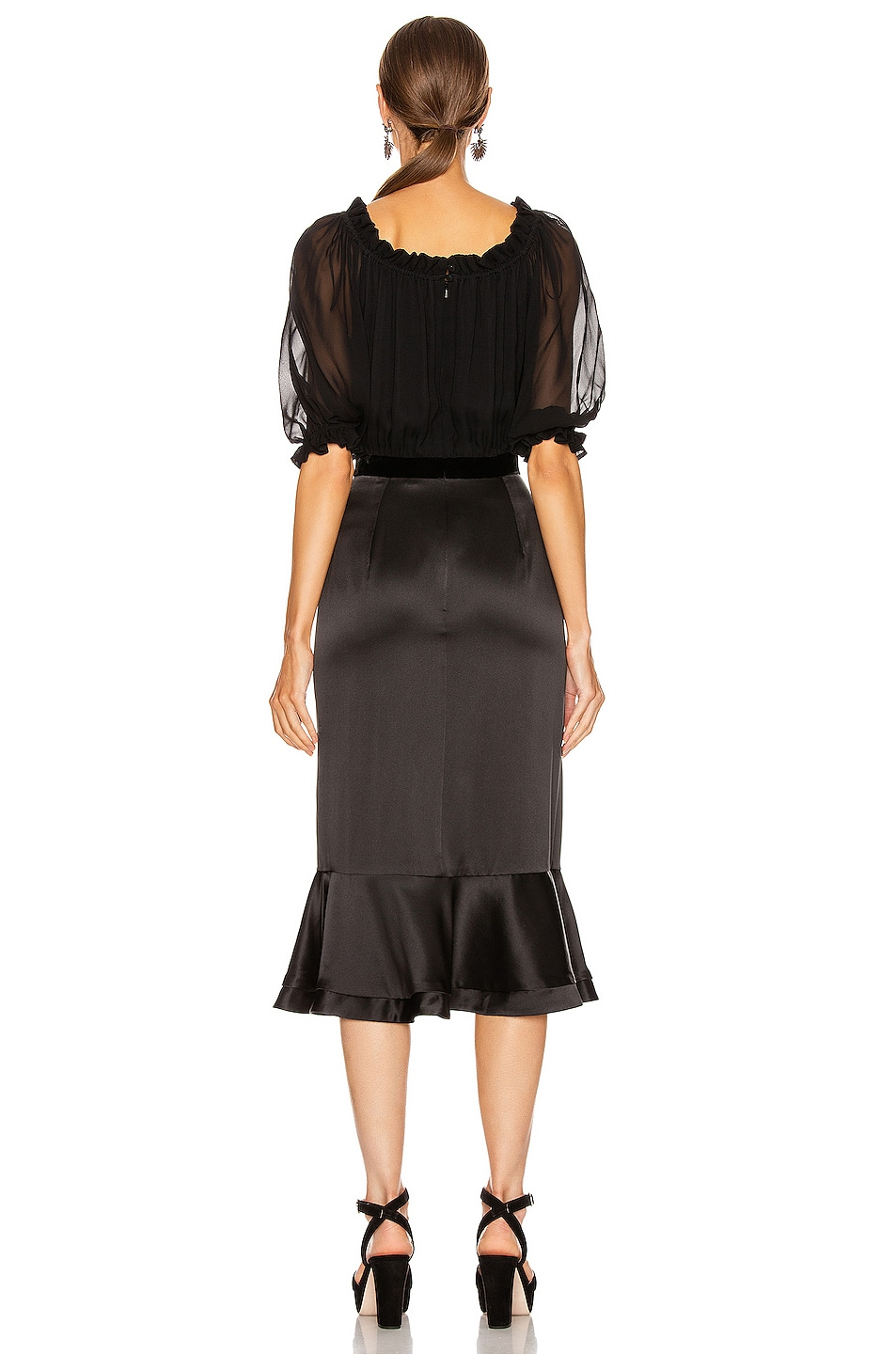 Image 3 of SALONI Holiday Olivia Dress in Black