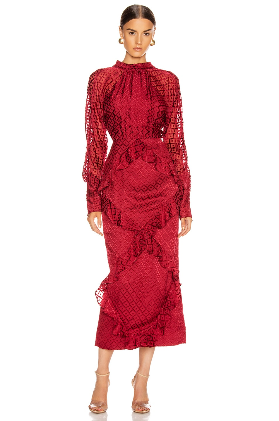 Image 1 of SALONI Alek Dress in Wine
