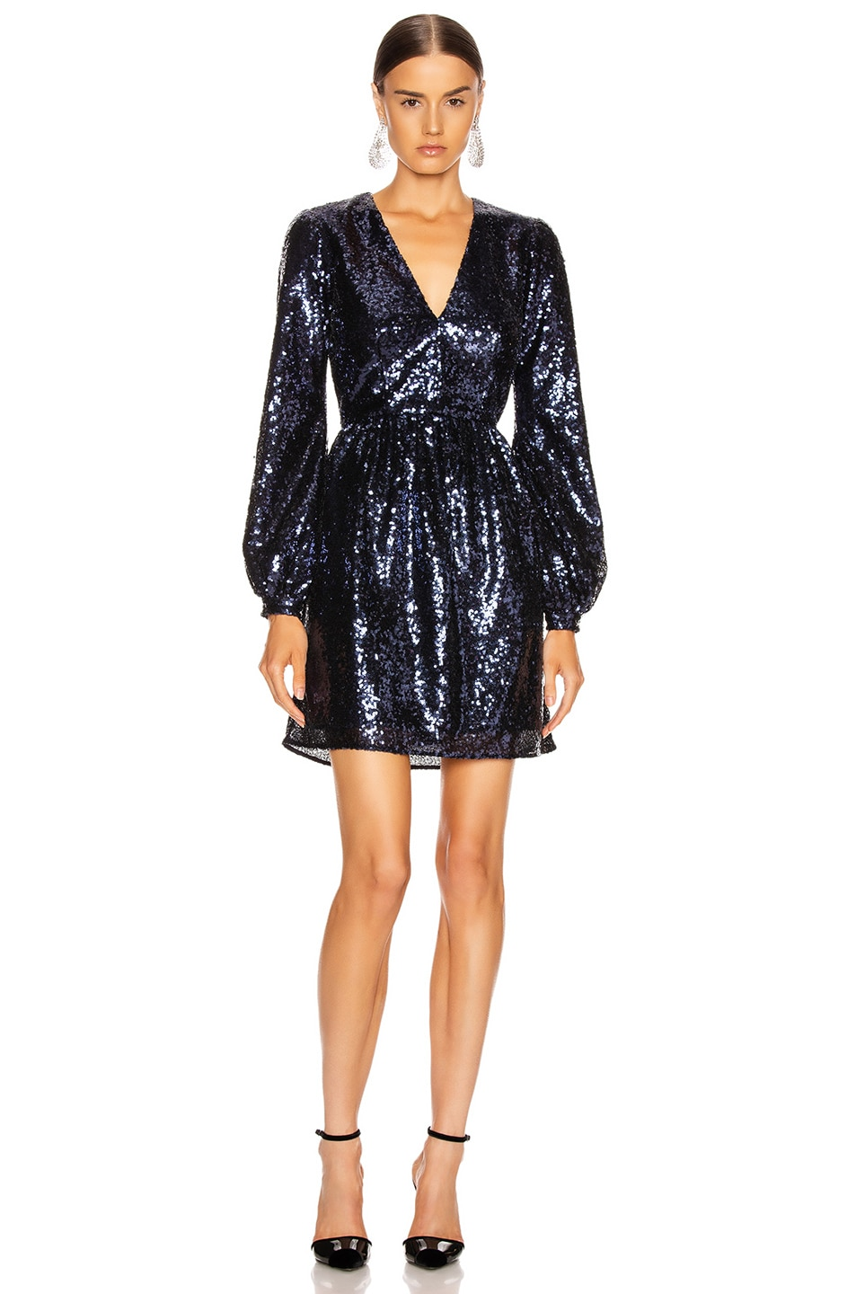 Image 1 of SALONI Camille Mini Dress in Navy