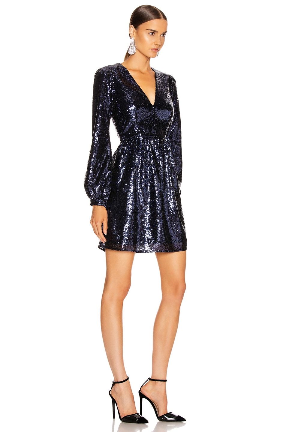 Image 2 of SALONI Camille Mini Dress in Navy