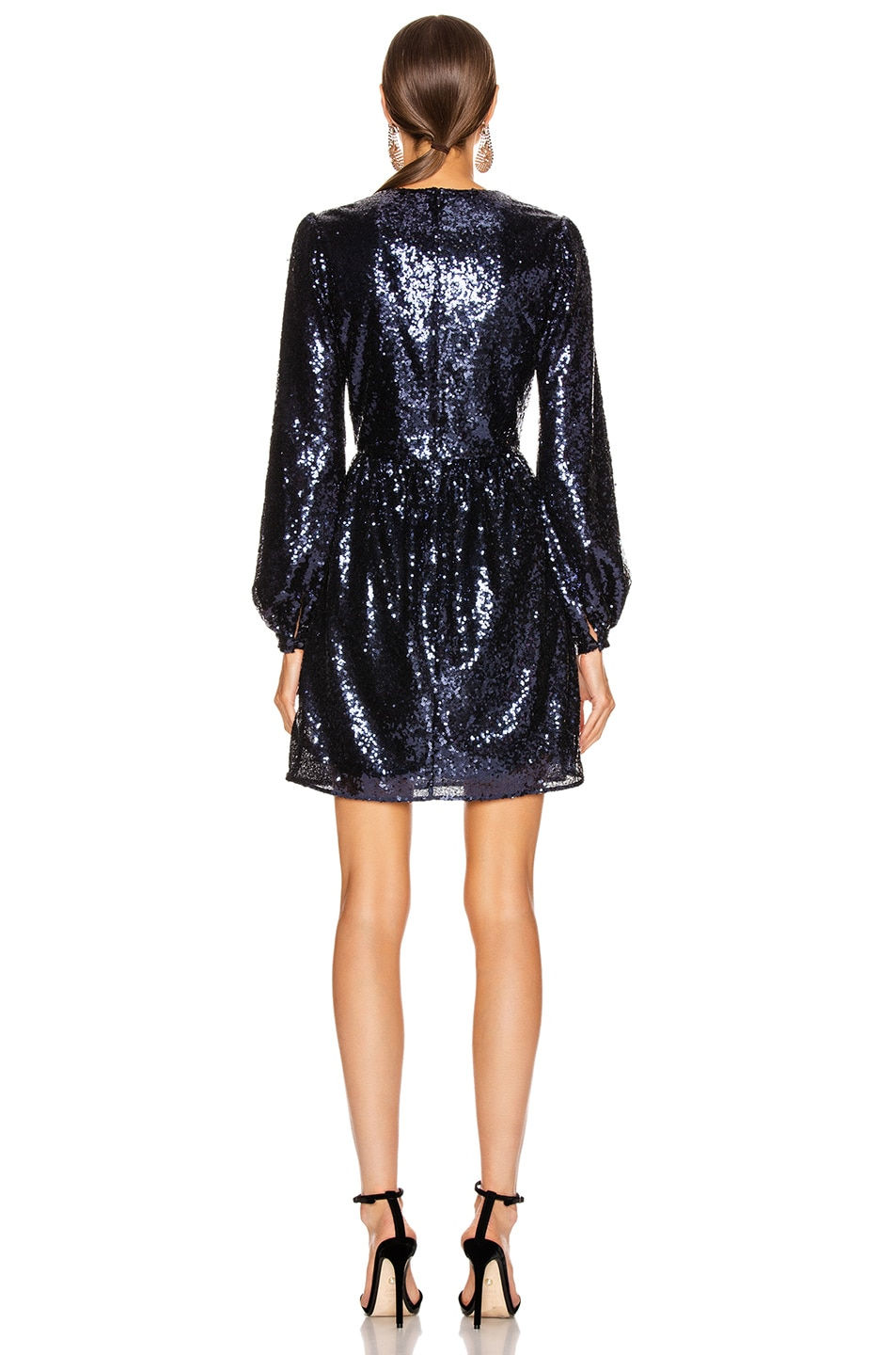 Image 3 of SALONI Camille Mini Dress in Navy