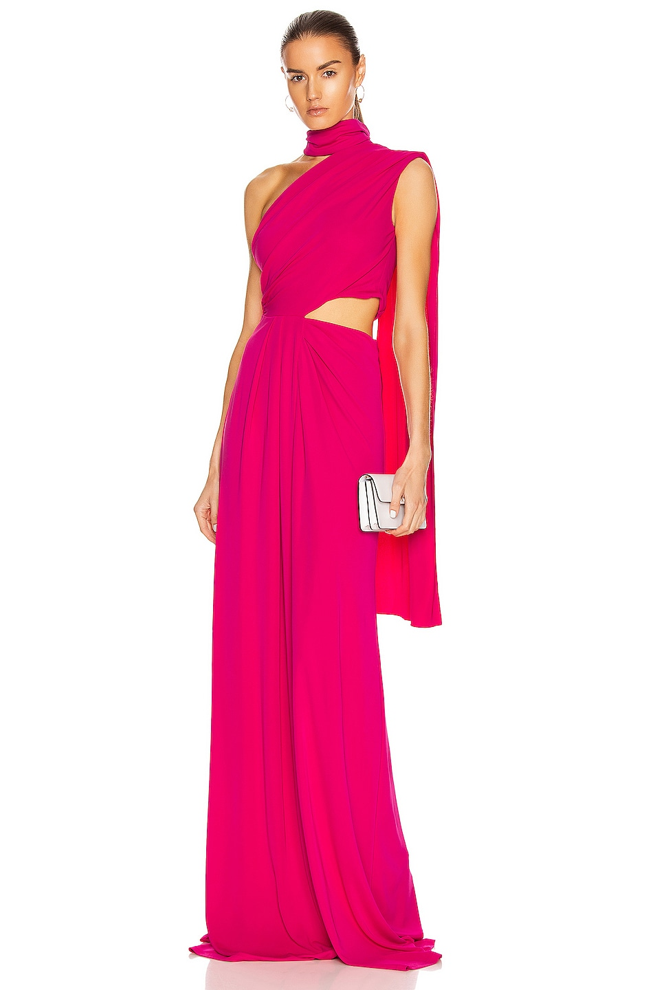 Image 1 of SALONI Honey Long Dress in Hot Magenta