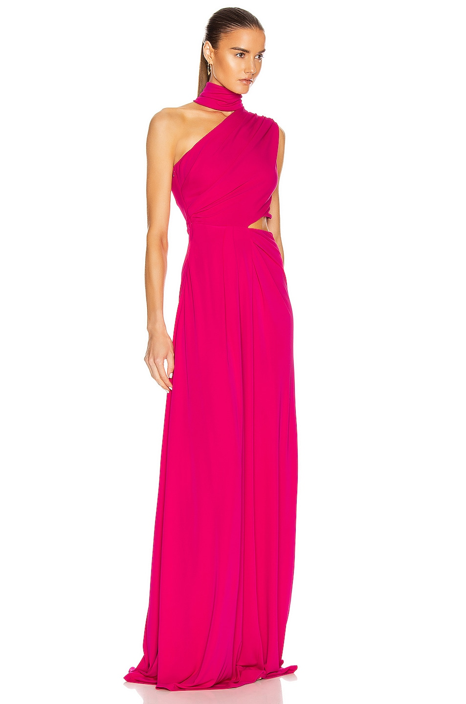 Image 2 of SALONI Honey Long Dress in Hot Magenta