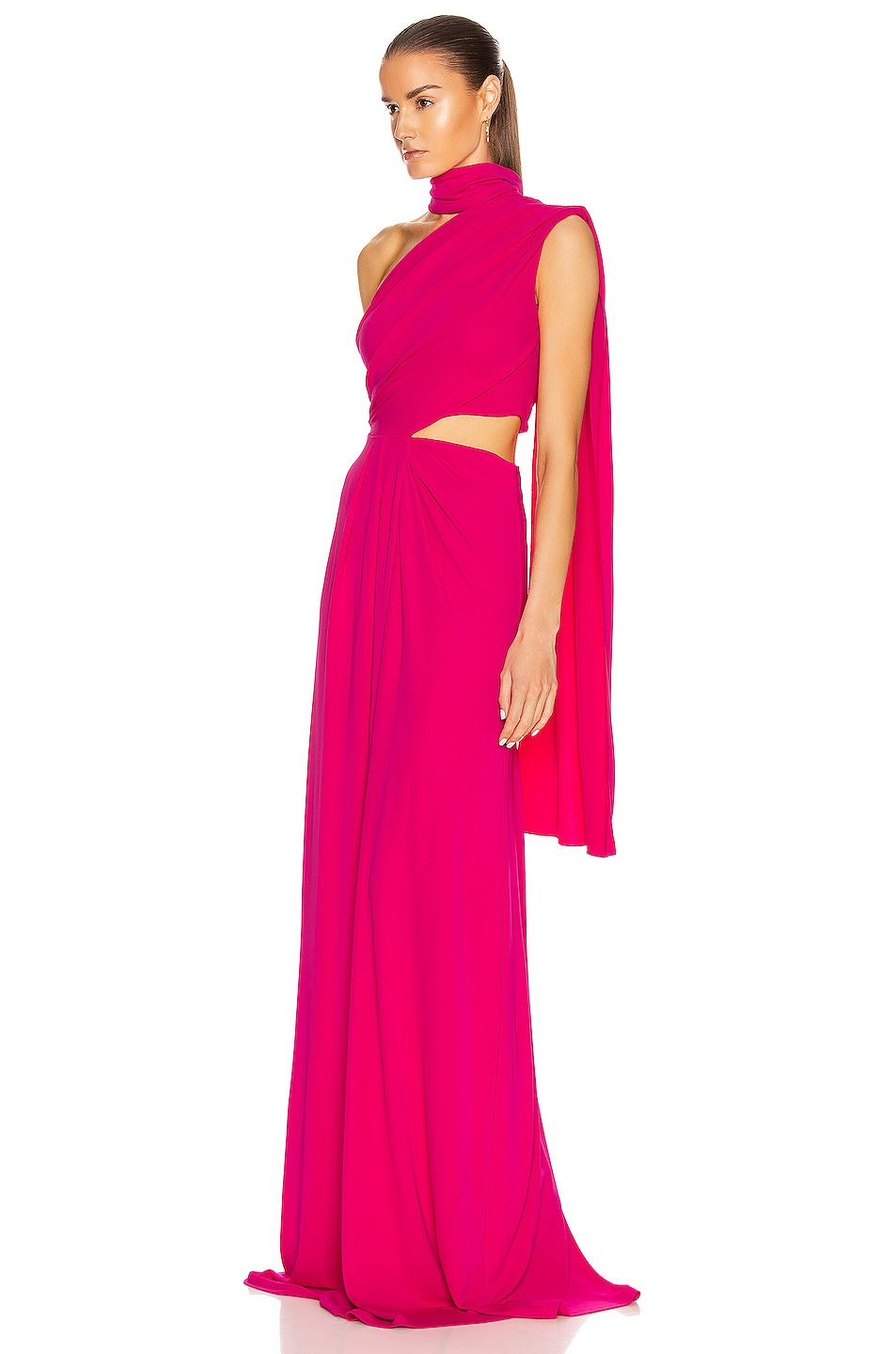 Image 3 of SALONI Honey Long Dress in Hot Magenta