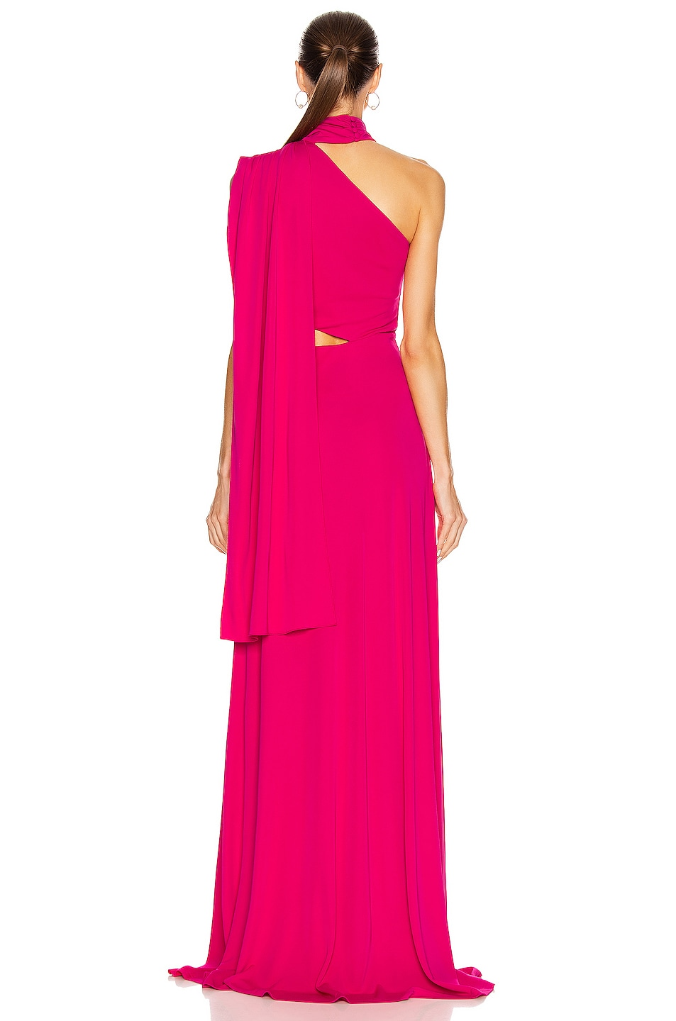 Image 4 of SALONI Honey Long Dress in Hot Magenta