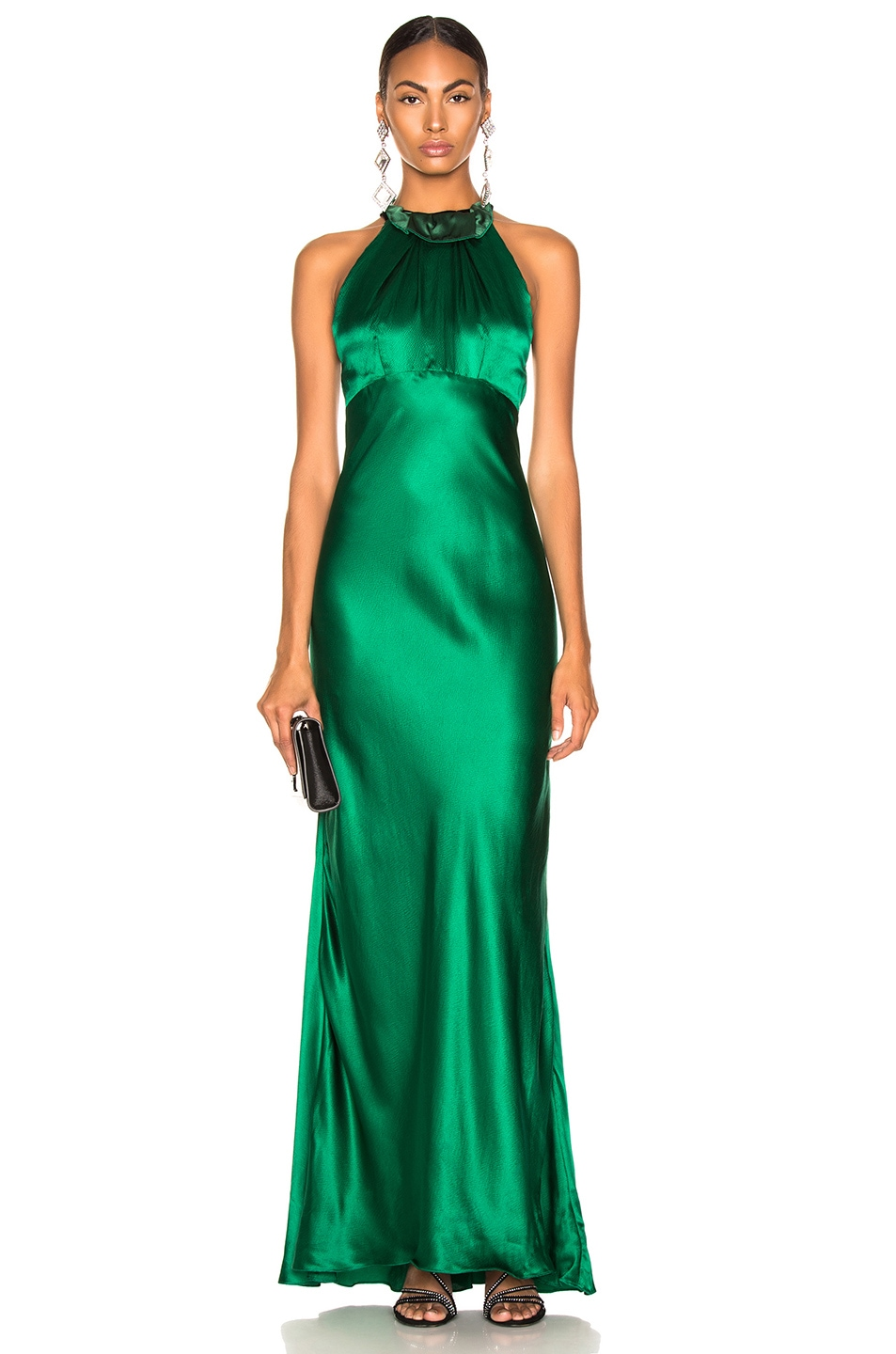 Image 1 of SALONI Michelle Dress in Emerald Green