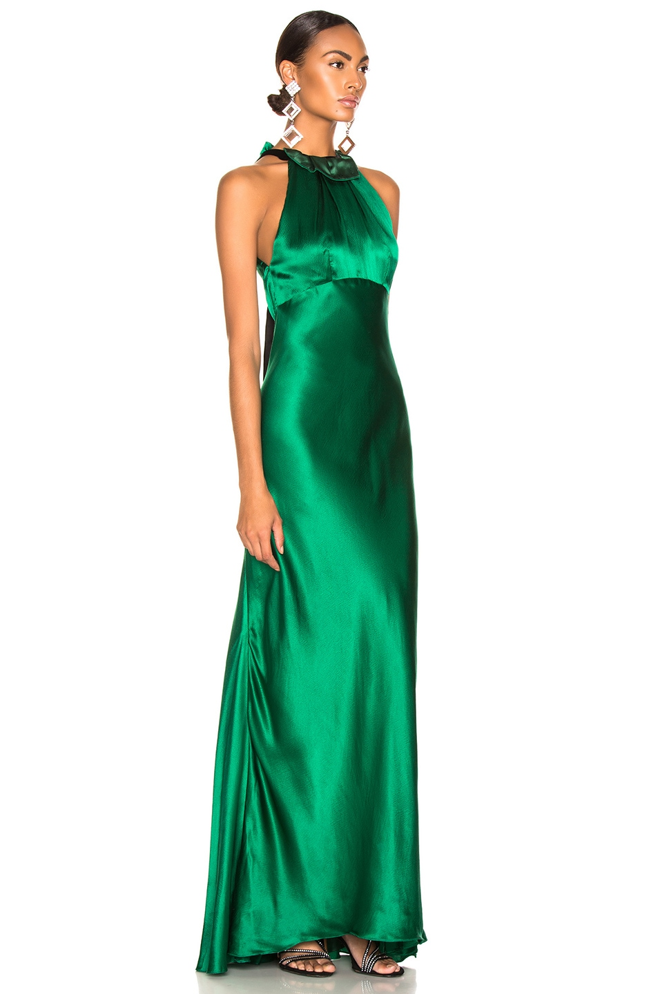 Image 2 of SALONI Michelle Dress in Emerald Green