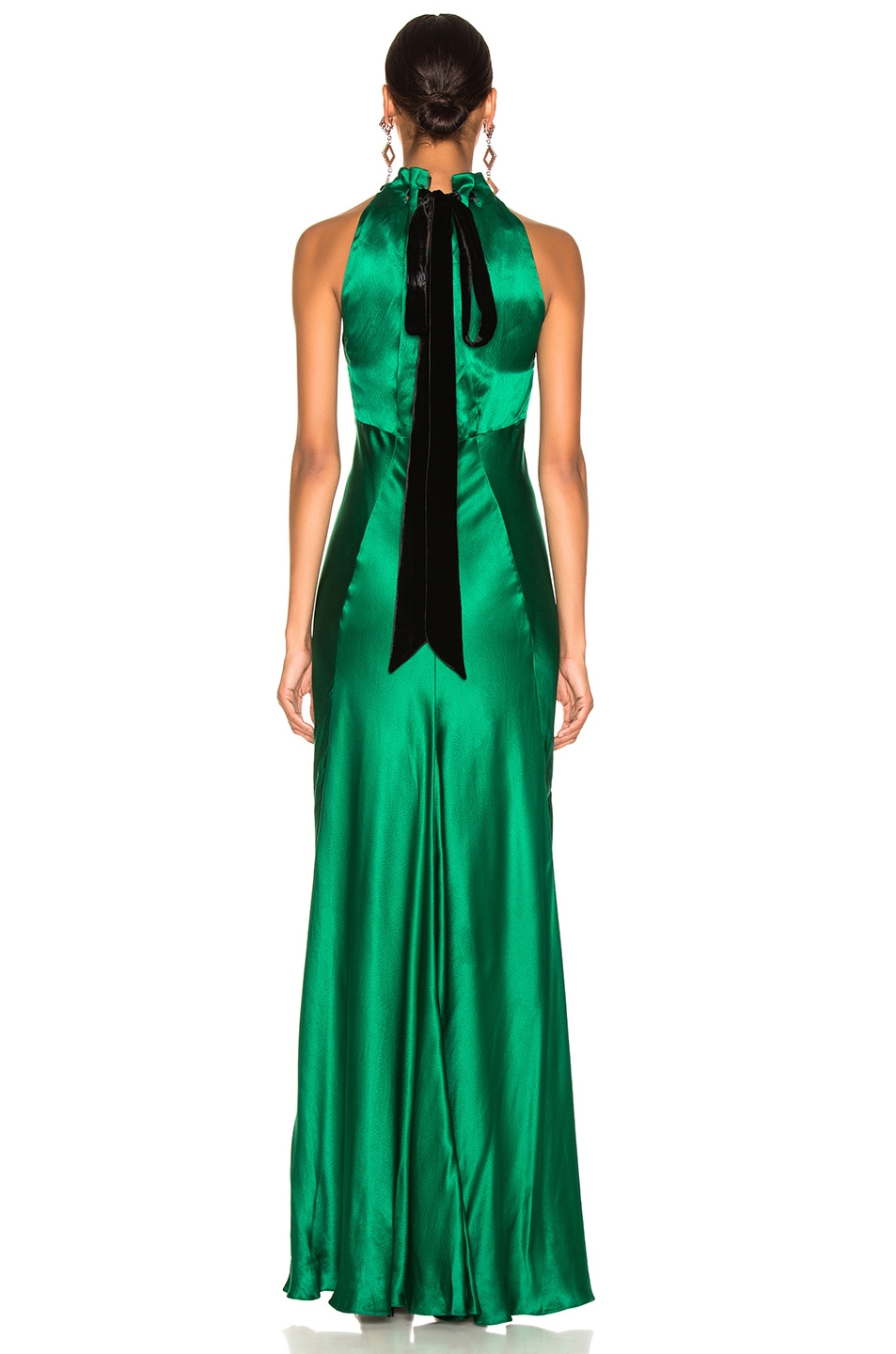 Image 3 of SALONI Michelle Dress in Emerald Green