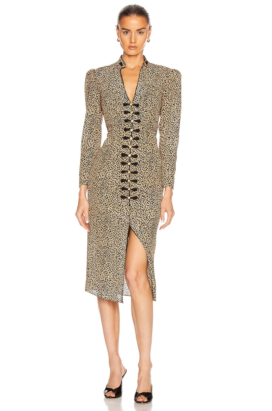 Image 1 of SALONI Andrea Dress in Camo Leopard