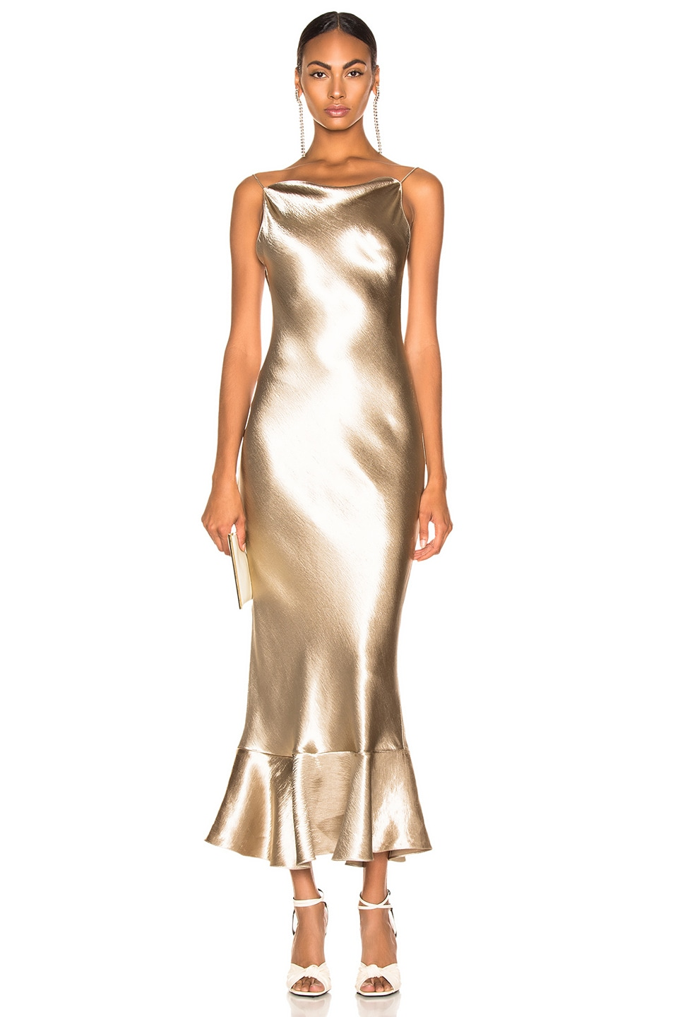 Image 1 of SALONI Stella Dress in White Gold