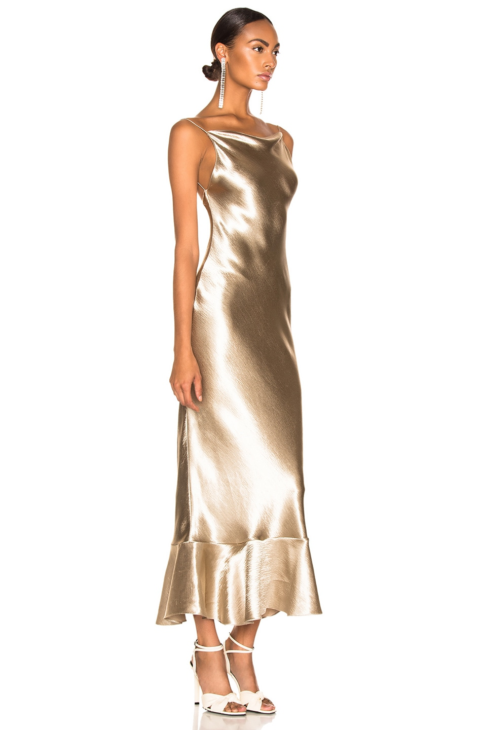 Image 2 of SALONI Stella Dress in White Gold