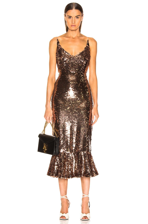 Image 1 of SALONI Aidan D Dress in Bronze