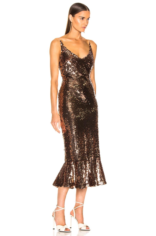 Image 2 of SALONI Aidan D Dress in Bronze