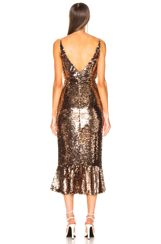 Image 3 of SALONI Aidan D Dress in Bronze